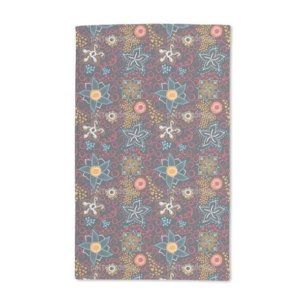 Floral Art Hand Towel (Set of 2)