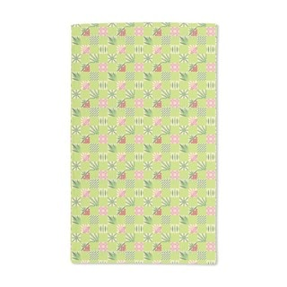 Checked Bamboo Pattern Hand Towel (Set of 2)