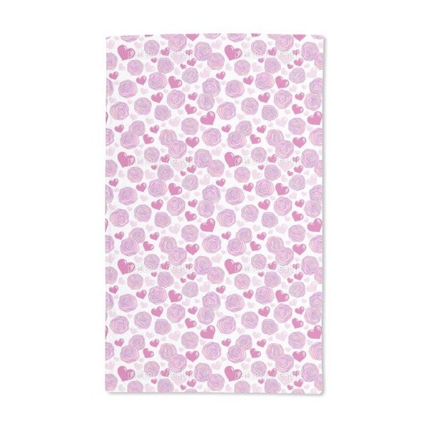 Rose Passion Hand Towel (Set of 2)
