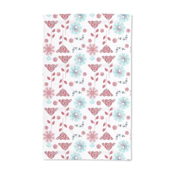 Cute Flowers Hand Towel (Set of 2)