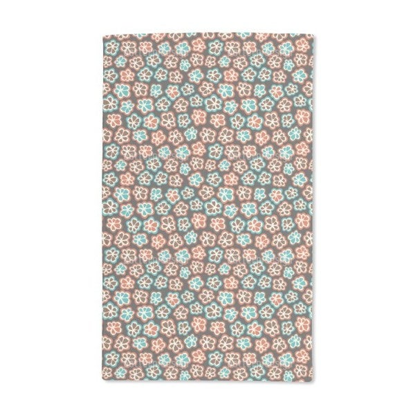 Little Retro Flowers Hand Towel (Set of 2)