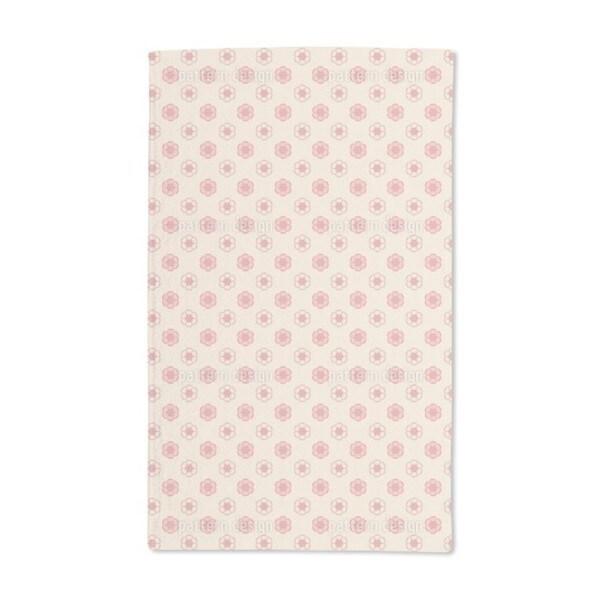 Delicate Enamel Roses Hand Towel (Set of 2)