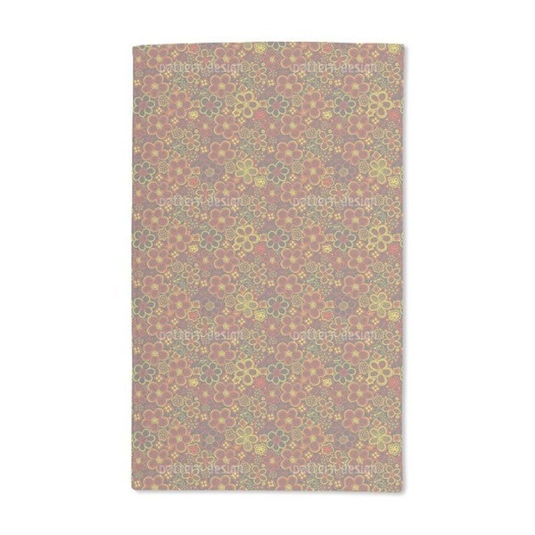 Retro Flower Rush Hand Towel (Set of 2)