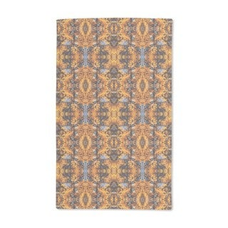 Noisy Gold Leaves Abstract Hand Towel (Set of 2)