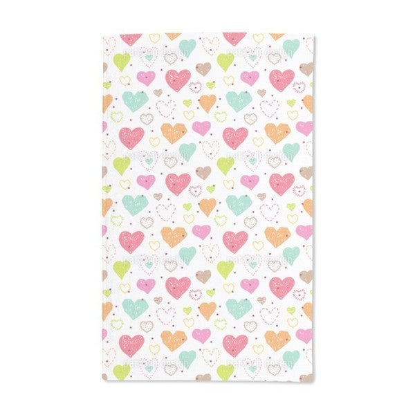 Julia Is Painting Hearts Hand Towel (Set of 2)