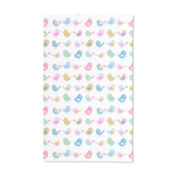 Birds in the Toddler Group Hand Towel (Set of 2)