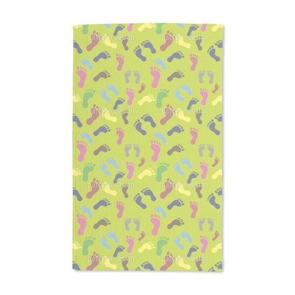Foot Traces Hand Towel (Set of 2)