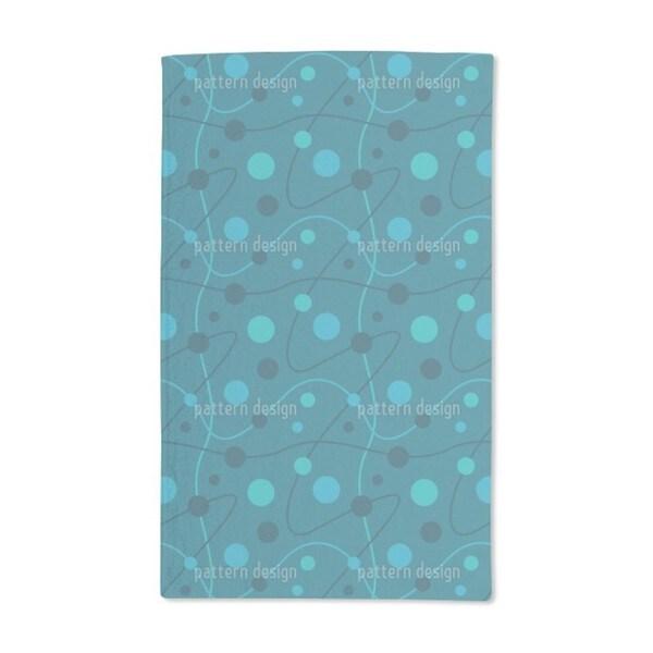 Circular Rounds Petrol Hand Towel (Set of 2)