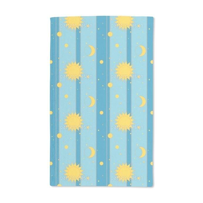 Uneekee Sun, Moon and Stars Hand Towel (Set of 2) (Sun, M...