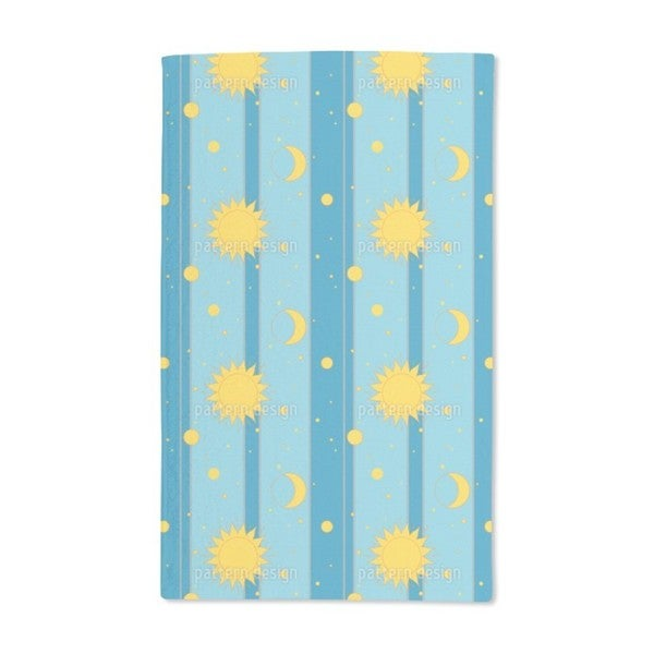 Shop Sun Moon And Stars Hand Towel Set Of 2 Free Shipping Today
