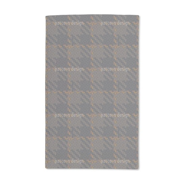 Autumn Check Patchwork Hand Towel (Set of 2)