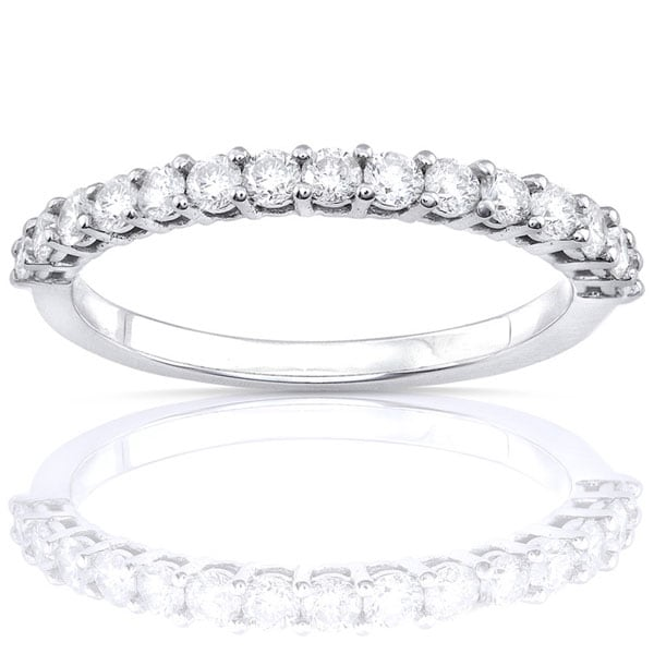 Annello by Kobelli 14k White Gold 1/2ct TDW Diamond Wedding Band (G-H, I1-I2)