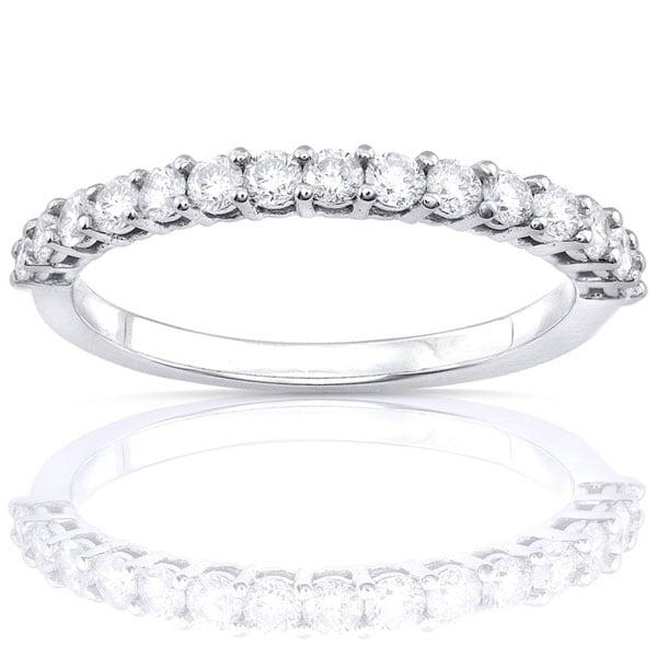 Annello by Kobelli 14k White Gold 1/2ct TDW Diamond Wedding Band (G-H, I1-I2)