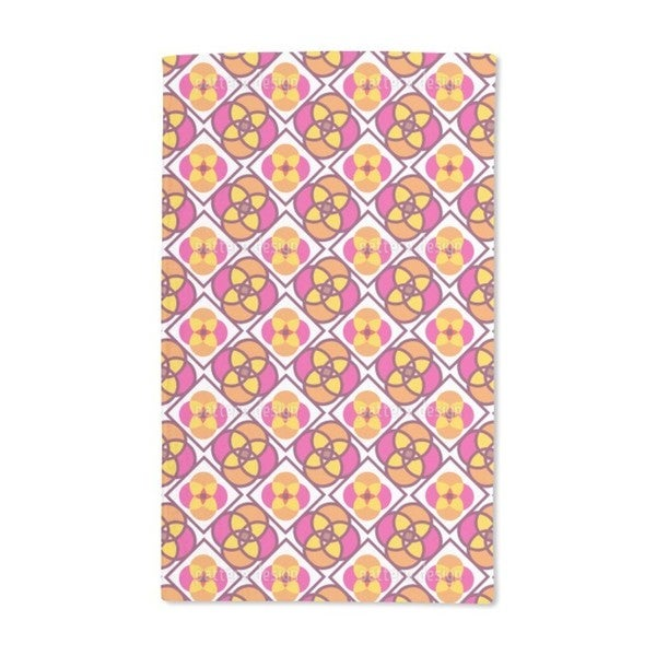 Flower Tiles Hand Towel (Set of 2)