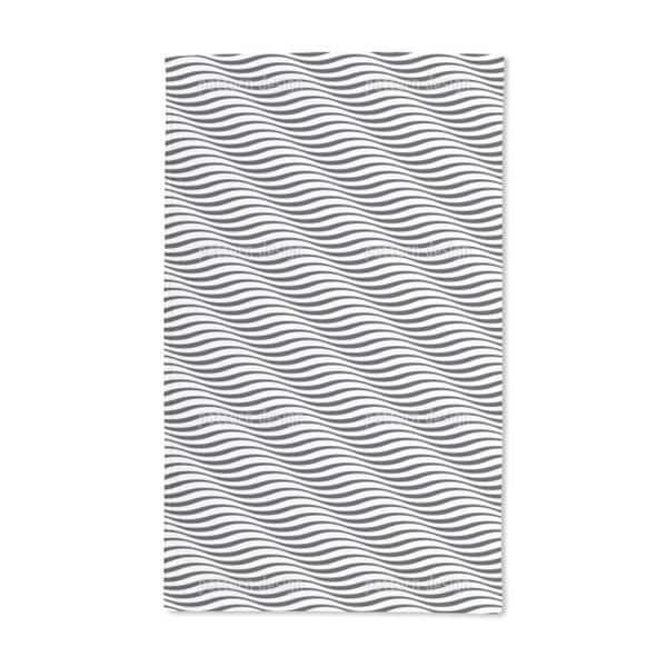 Zebra Waves Hand Towel (Set of 2)