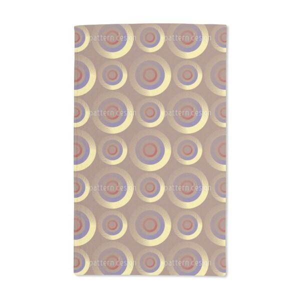 Golden Targeting Circles Hand Towel (Set of 2)