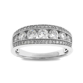 Azaro 18k White Gold 1ct TDW Diamond Fashion Band