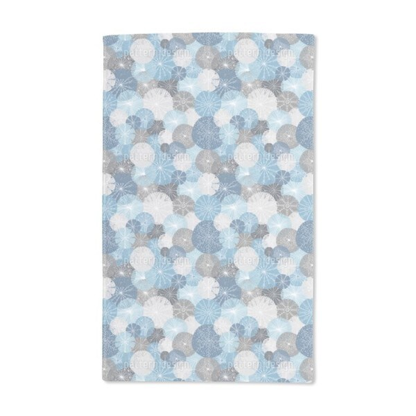 Gorgeous Winter Circles Hand Towel (Set of 2)