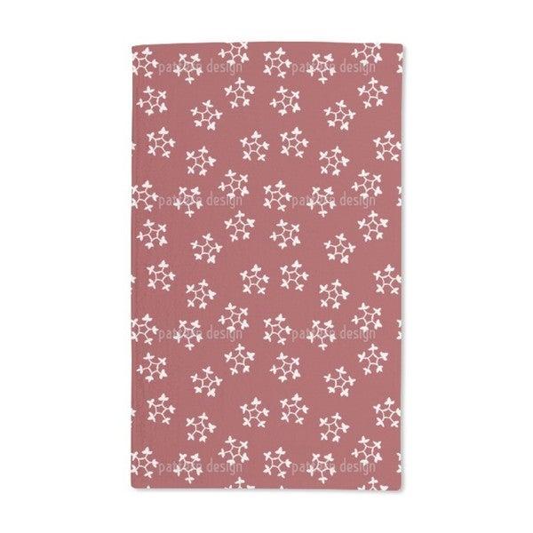 Blockprint Snowflakes Hand Towel (Set of 2)