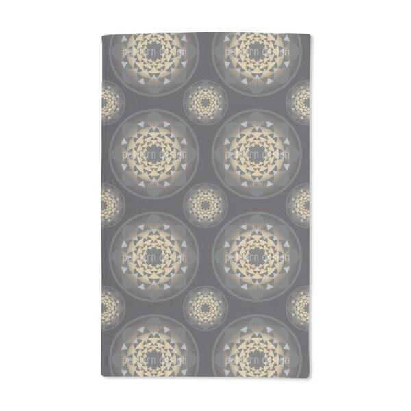 Glitter Gold Floral Hand Towel (Set of 2)