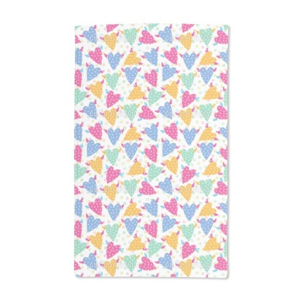 Hundred Points For Flying Hearts Hand Towel (Set of 2)