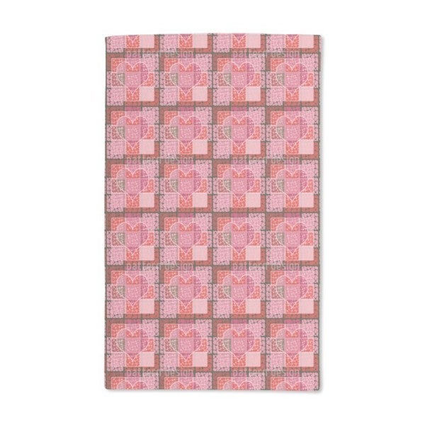 Heart to the Square Hand Towel (Set of 2)