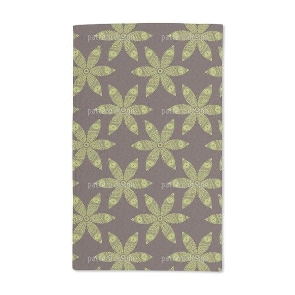 Autumny Flower Movement Hand Towel (Set of 2)