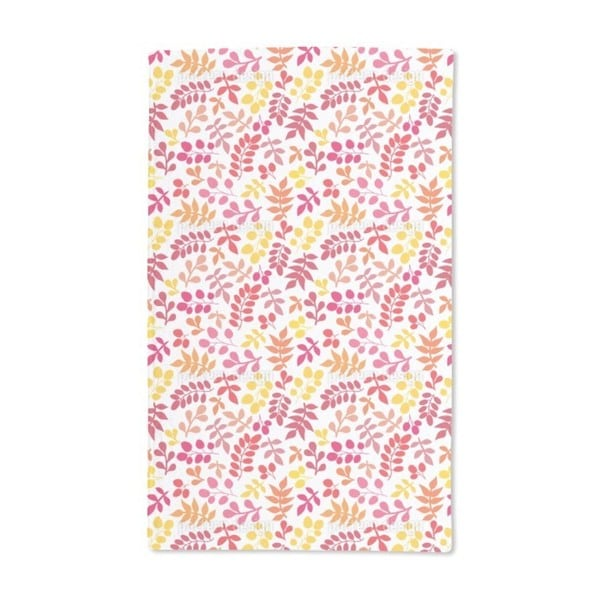 Joyful Leaf Variations Hand Towel (Set of 2)