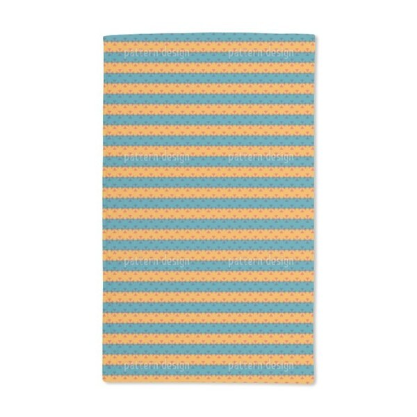Stripe Contrast Hand Towel (Set of 2)