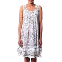 Handmade Cotton 'Earth Collection' Dress (India)