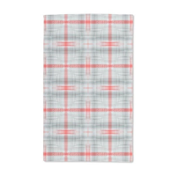 Red Crossing Hand Towel (Set of 2)