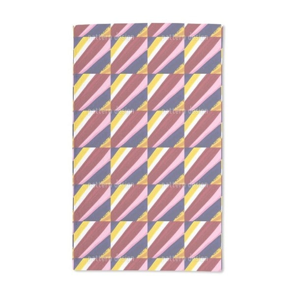 Stripes to the Square Hand Towel (Set of 2)