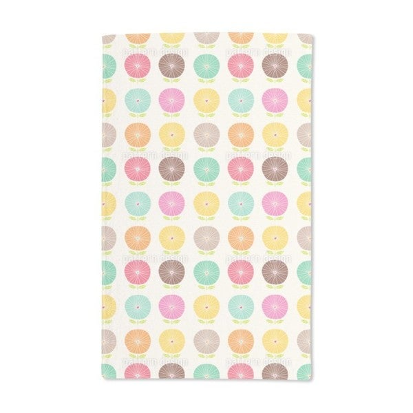 Flowers With Heart Hand Towel (Set of 2)