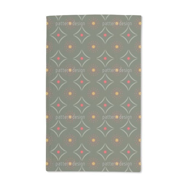Dotty Meets Check Hand Towel (Set of 2)