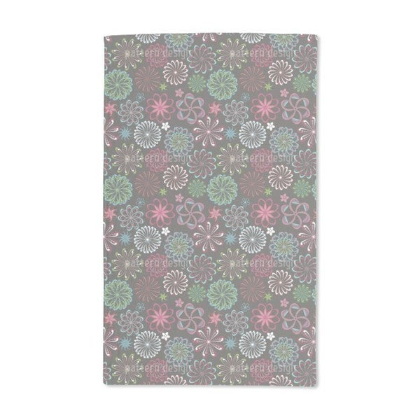 Flowers of Science Hand Towel (Set of 2)