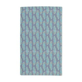 Feather Leaves at Night Hand Towel (Set of 2)