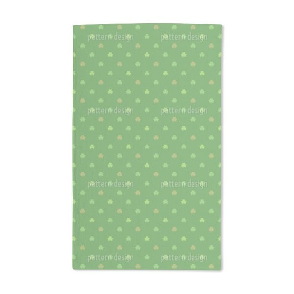Shop St Patrick S Clover Hand Towel Set Of 2 Free Shipping