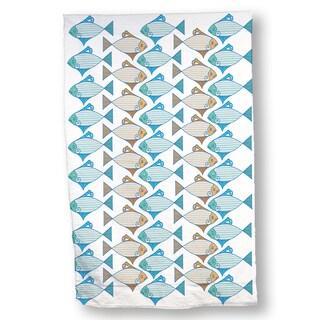 Tessellated Fish Hand Towel