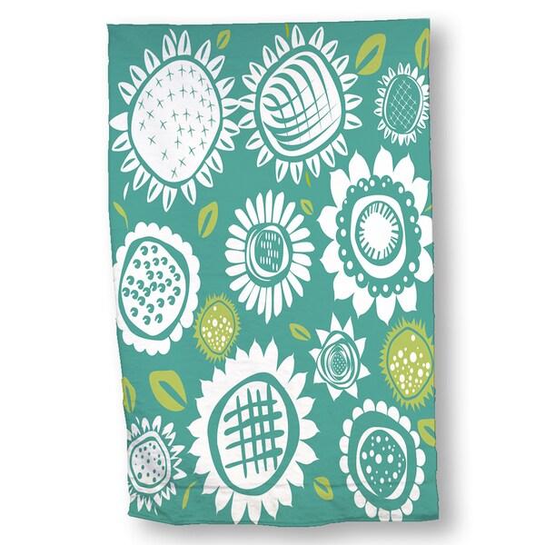 Vibrant Flowers Hand Towel