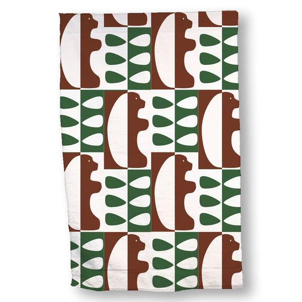Bear Tree Hand Towel