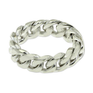 Handmade Men's Sterling Silver 'Freedom' Ring (Indonesia)