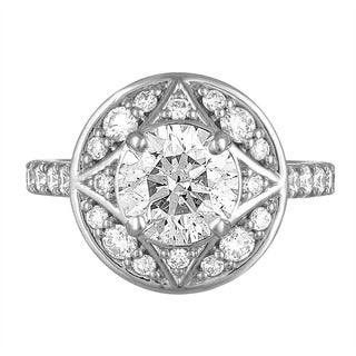 Platinum 3 1/3ct TDW Diamond Engagement Ring By Life More Dazzling (I-J, SI2-I1)