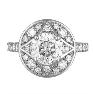 Platinum 3 1/3ct TDW Diamond Engagement Ring By Life More Dazzling (I-J, SI2-I1)