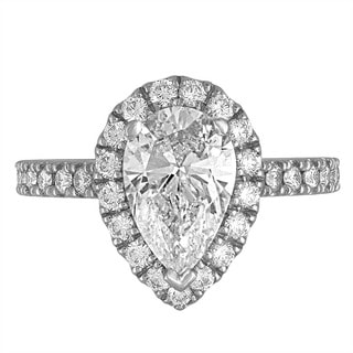 Platinum 2 7/8ct TDW Diamond Engagement Ring By Life More Dazzling (G-H, SI2-I1)