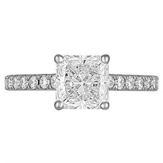 Platinum 2 5/8ct TDW Diamond Engagement Ring By Life More Dazzling (I-J, VS1-VS2)