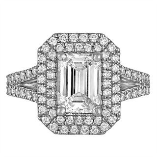 Platinum 3 1/6ct TDW Diamond Engagement Ring By Life More Dazzling (I-J, SI1-SI2)