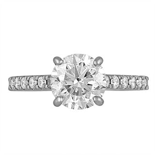 Platinum 2 3/4ct TDW Diamond Engagement Ring By Life More Dazzling (H-I, SI2-I1)