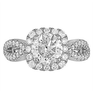 Platinum 2 1/2ct TDW Diamond Engagement Ring By Life More Dazzling (I-J, I1-I2)