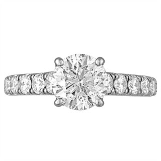 Platinum 2 5/8ct TDW Diamond Engagement Ring By Life More Dazzling (H-I, I1-I2)