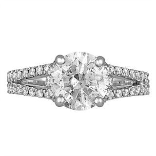 Platinum 2 7/8ct TDW Diamond Engagement Ring By Life More Dazzling (H-I, I1-I2)